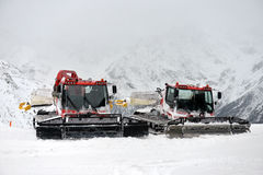 Snowcat, machine for snow removal Stock Image