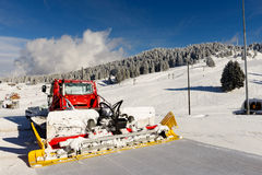 Snowcat, machine for snow removal, preparation ski trails Royalty Free Stock Photography