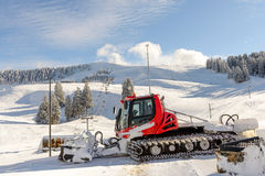 Snowcat, machine for snow removal, preparation ski trails Royalty Free Stock Images