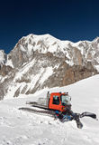 Snowcat and mont Blanc Royalty Free Stock Image