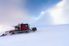 Snowcat with people Royalty Free Stock Images