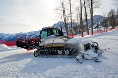 Snowcat on ski resort Stock Photography
