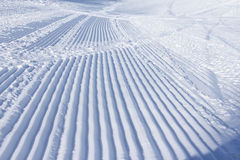 Snowcat trace on snow Stock Image