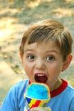 Snowcone de Little Boy Imágenes de archivo libres de regalías