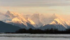 Snowcovered горы в Аляске. стоковое фото rf