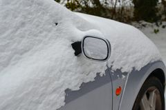 Snowcovered car in the winter Royalty Free Stock Image