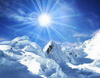 Snowcovered mountain Royalty Free Stock Images