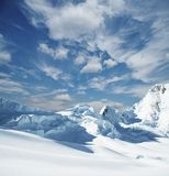 Snowcovered mountain Royalty Free Stock Image