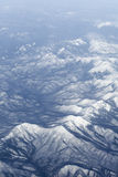 Snowcovered mountain range Royalty Free Stock Images