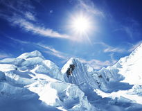 Snowcovered mountain Royalty Free Stock Photo