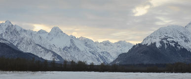 Snowcovered Mountains in  Alaska. Stock Images