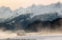 Snowcovered Mountains in  Alaska. Stock Image