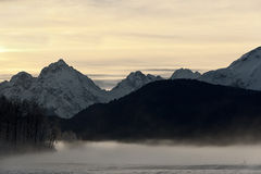 Snowcovered Mountains in  Alaska. Royalty Free Stock Photography