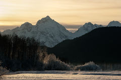 Snowcovered Mountains in  Alaska. Stock Photo