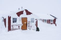 Snowcovered veiligheid-ruimte Royalty-vrije Stock Afbeeldingen