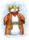 Snowcowboy stock de ilustración
