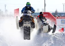 Snowcross 2013, Novyy Urengoy Royalty Free Stock Photography