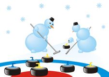 Snowcurling Stock Images