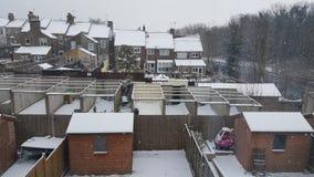 Snowday nebuloso fotos de stock