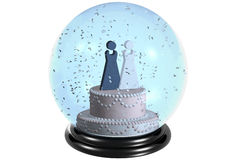 Snowdome marriage lesbian Royalty Free Stock Images