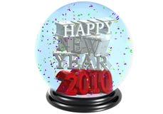 snowdome szczęśliwy nowy rok Zdjęcia Royalty Free