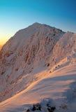Snowdon à l'élévation de Sun Images stock