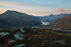 Snowdon dawn Stock Photos