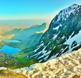 Snowdon in Galles immagine stock