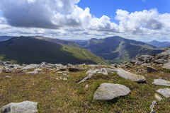 Snowdon from the Glyderau Royalty Free Stock Photos
