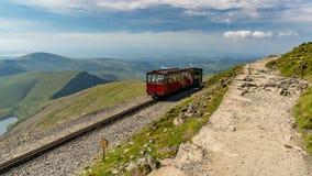 Snowdon Halna kolej między górą Snowdon i Llanberis, G zdjęcia royalty free