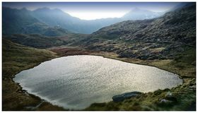 Snowdon lake Stock Image