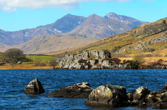 Snowdon from Llynnau Lake Royalty Free Stock Photography