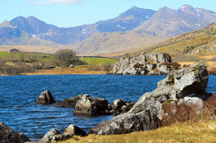 Snowdon from Llynnau Lake Stock Images