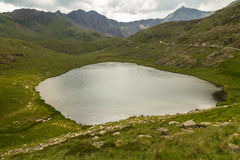 Snowdon Miners track by LLyn Teryn Royalty Free Stock Images