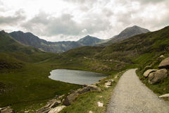 Snowdon Miners track by LLyn Teryn Royalty Free Stock Image