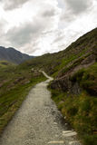 Snowdon path up to peak of Snowdon Miners track. Stock Image