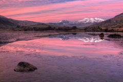 Snowdon pre wschód słońca Zdjęcie Royalty Free