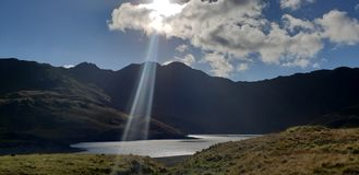 Snowdon Snowdonia ray of light sun beam scenic rural stunning royalty free stock photos