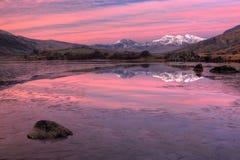 Snowdon Sonnenaufgang vor Lizenzfreies Stockfoto