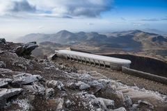 Snowdon Summit cafe Royalty Free Stock Photography