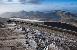 Snowdon Summit cafe Royalty Free Stock Images