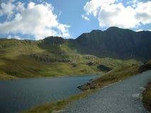 Snowdonia, beau Pays de Galles Pris des crêtes de Snowdonia Beau temps Photos stock