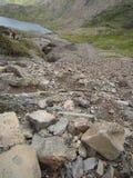 Snowdonia, beau Pays de Galles Pris du sommet de Snowdon Montagnes, crêtes, nuages Image libre de droits