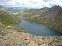 Snowdonia, beau Pays de Galles Pris du sommet de Snowdon Montagnes, crêtes, nuages Photo stock