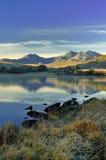 Snowdonia Berge von Llynnau Mymbyr Stockbilder