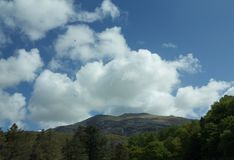 Snowdonia and big sky stock photo