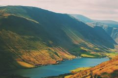 Snowdonia. Highland blue lake Royalty Free Stock Photo