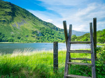 Snowdonia jezioro i pasmo górskie Obraz Royalty Free