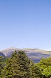 Snowdonia landscape. Scenic view of mountains and trees in Snowdonia landscape, Gwynedd, Wales Stock Photos