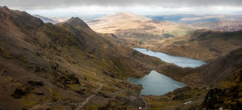 Snowdonia Landscape with Lake. A landscape of Snowdon with a lake Royalty Free Stock Image